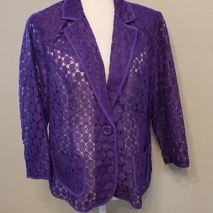 Chico's Open Lace Jacket